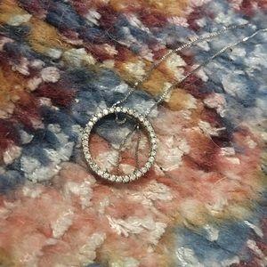 Real diamond pendant necklace